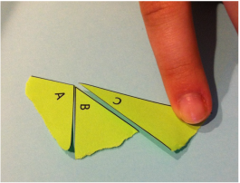 Interior Angles of a Triangle: Showing a Sum of 180 Degrees
