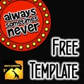 Always, Sometimes, or Never Activity Template