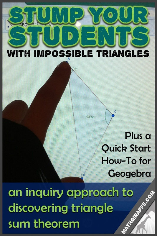 Using Geometry Software To Investigate Triangles. Guided Inquiry Discovering Triangle Sum Theorem And Impossible Triangles. Worksheet. Geometry Worksheets Triangle Sum Theorem At Mspartners.co