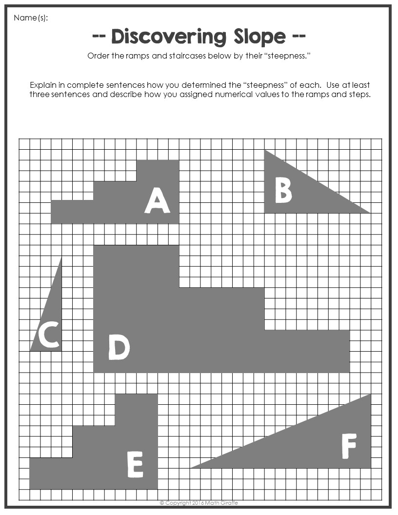 Worksheets Slope Worksheet guide to teaching slope of a line through a