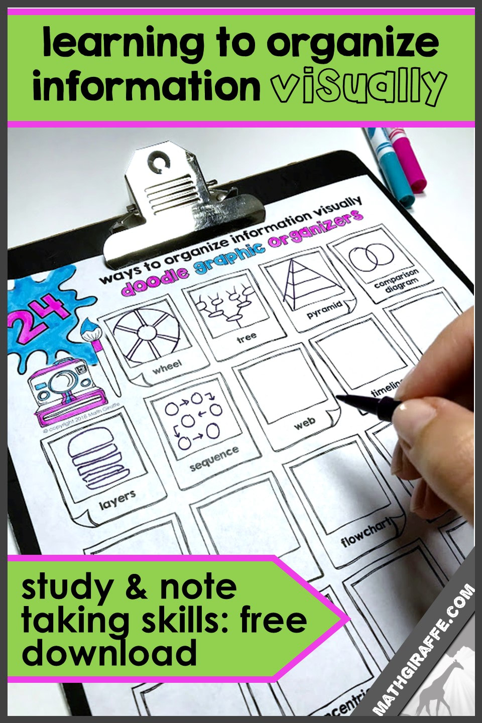 Graphic Organizers For Note Taking And Study Skills