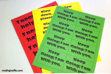 Printable Student Response Cards