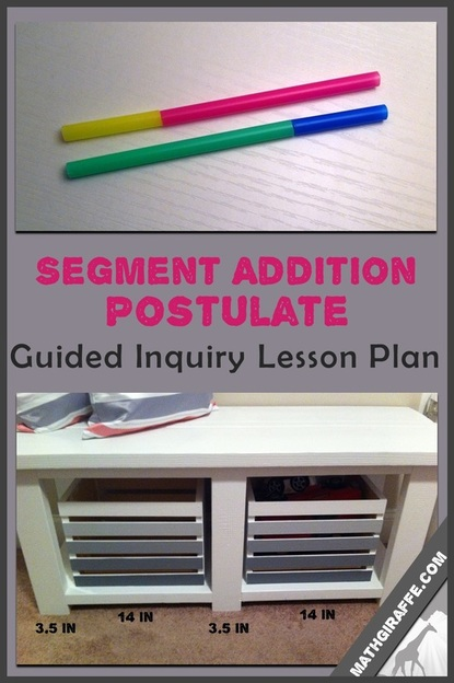 Segment Addition Postulate - A Guided Inquiry Approach