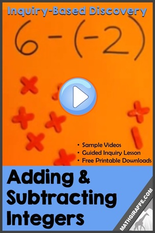 Teaching Integer Addition and Subtraction - Inquiry Lesson Plan