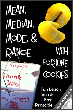 Mean, Median, Mode, and Range with Fortune Cookies