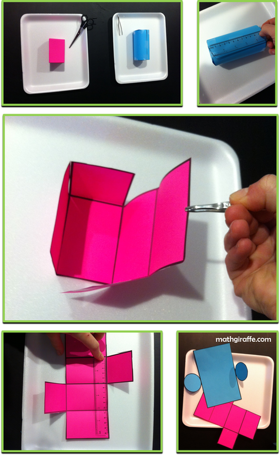Dissecting 3D shapes to understand surface area