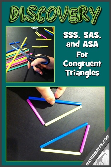 Discovering Congruent Triangles - SSS, SAS, and ASA