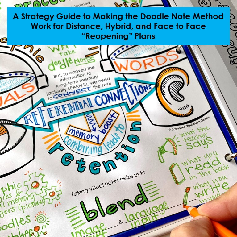 Doodle Notes for Hybrid and Distance Learning - Digital and Adjusted Visual Note Taking