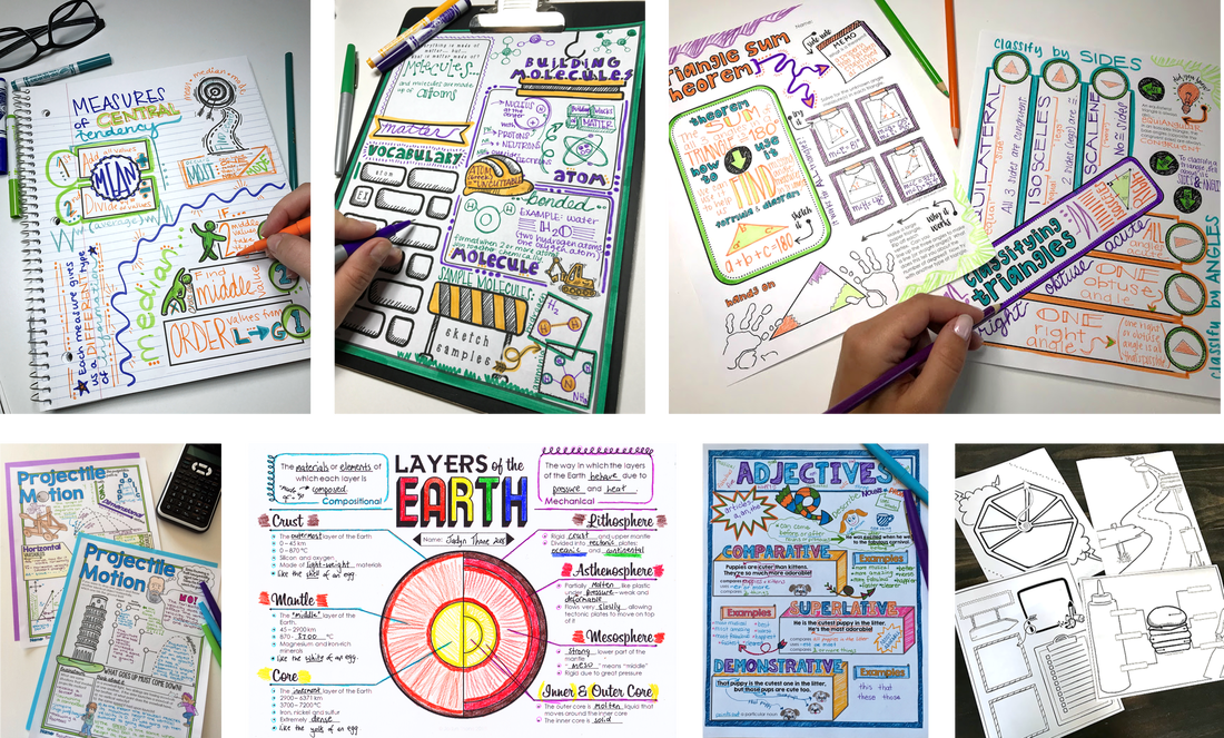Doodle Notes help add the ART to STEM Classes