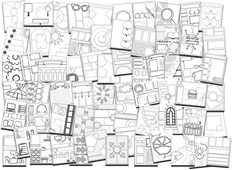 Some of the Templates in the Doodle Note Club