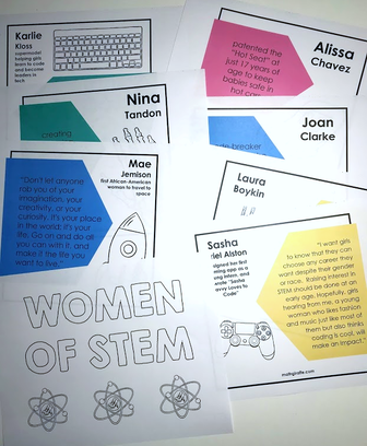 downloadable bulletin board graphics (FREE) - Women in STEM