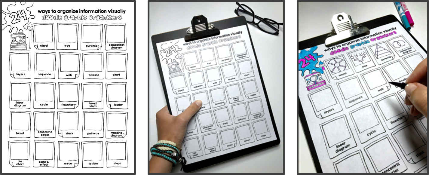 free download - graphic organizers for visual note taking and study guides