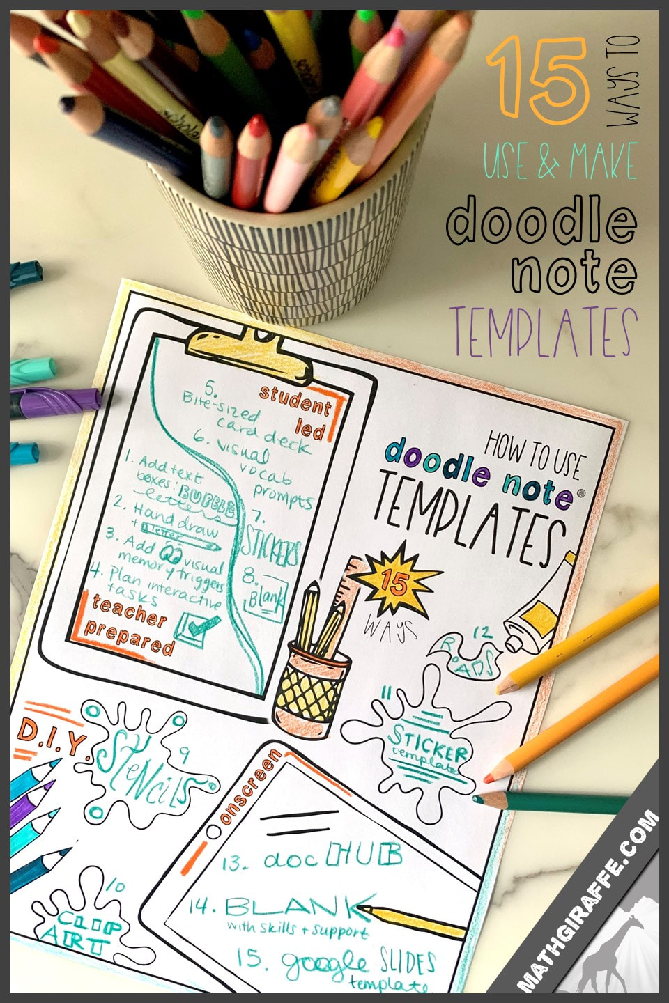 How to Use and Make Doodle Note Templates - D.I.Y. Doodle Notes