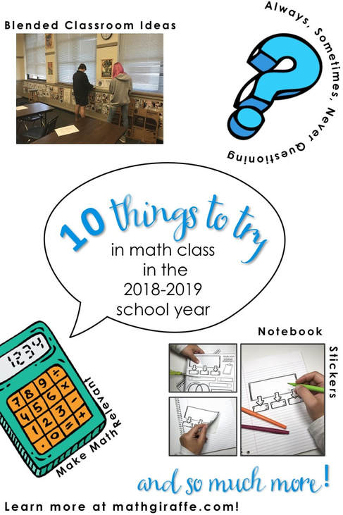10 Things to Try in Math Class This Year