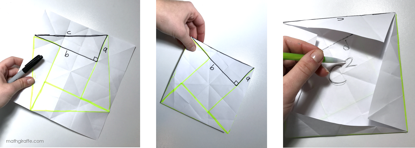 Hands-On Paper Folding for Pythagorean Theorem