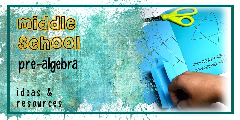 middle school pre algebra teaching ideas & lessons