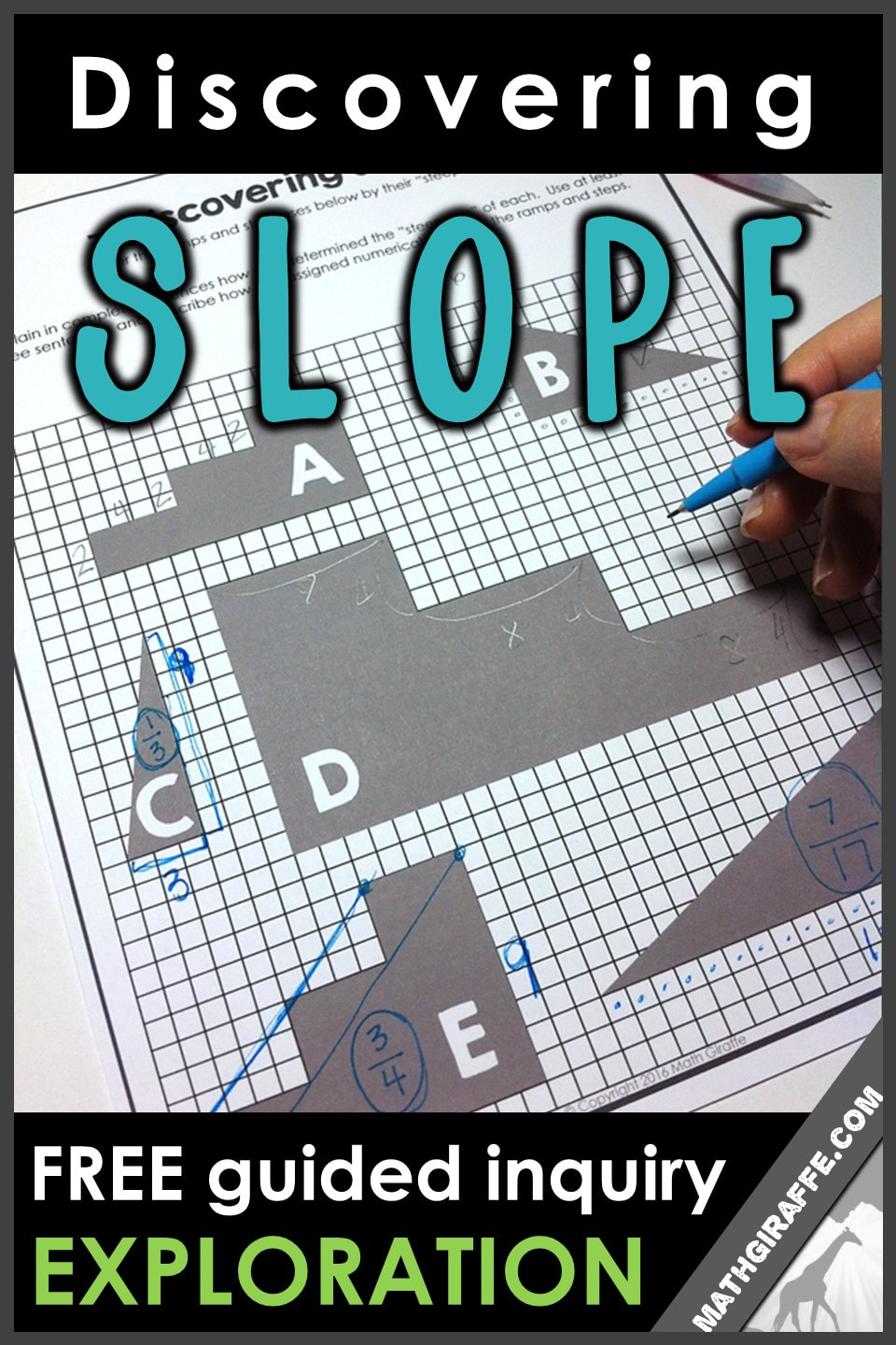 teaching slope through inquiry - a free discovery / guided exploration of slope formula for algebra