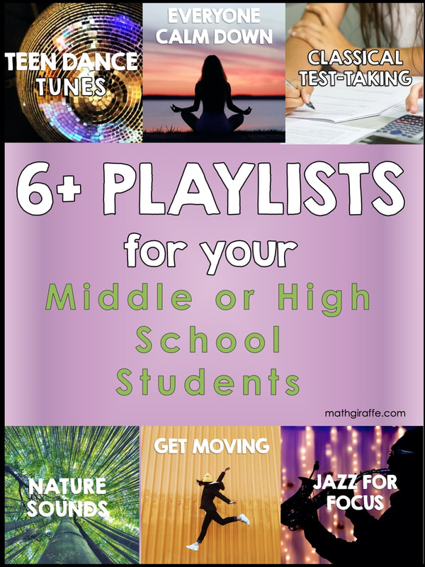 School Safe Playlists for Teens: Music for Middle and High School Classrooms - Playlists for Test Taking, Teen Dance, Active Brain Breaks, and more